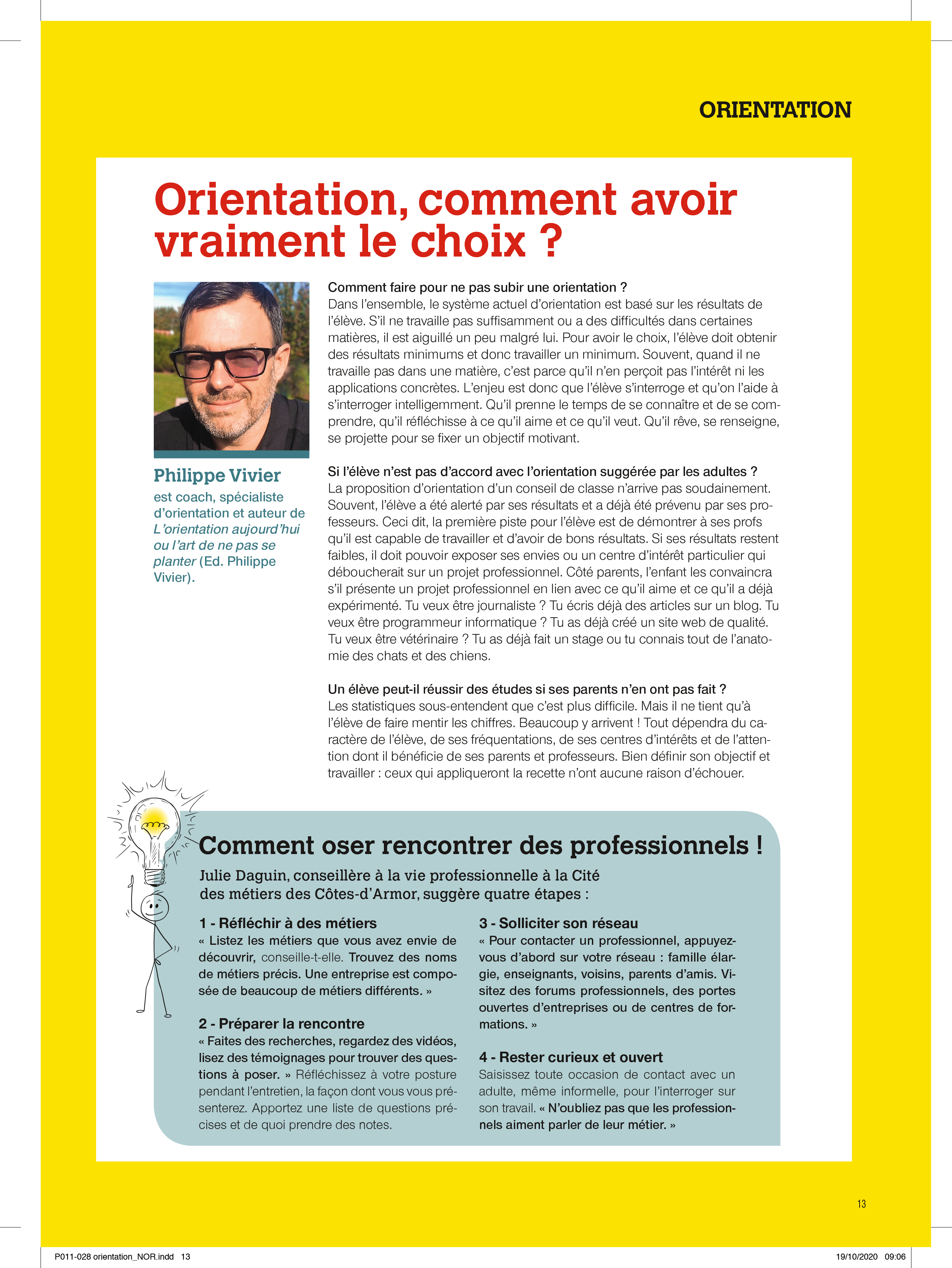 Interview philippe vivier Ouest France